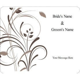 templates wedding elegant swirls wine bottle label 6 per sheet