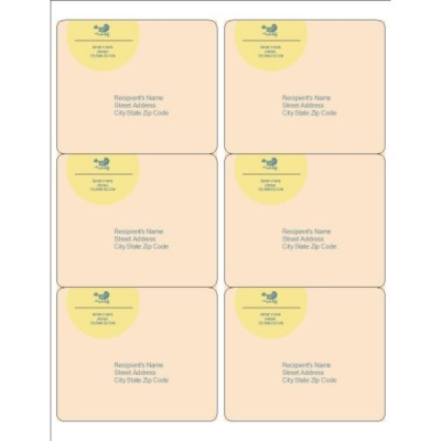 Blue Bird Design Shipping Labels, 6 per sheet