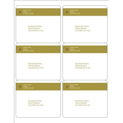 Lattice Design Shipping Labels, 6 per sheet