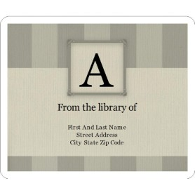 Templates monogram bars bookplate label 6 per sheet avery for Bookplate templates for word