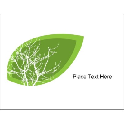 Earth Day Leaf Full Sheet Label, 1 per sheet