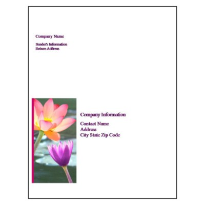 Water Lily Full Sheet Label