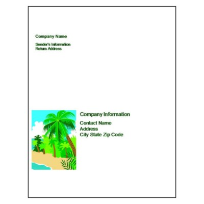 Palm Tree Full Sheet Label