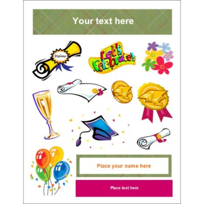 Graduation Clear Sticker Project Paper