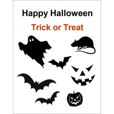 Halloween Designs Clear Sticker Project Paper
