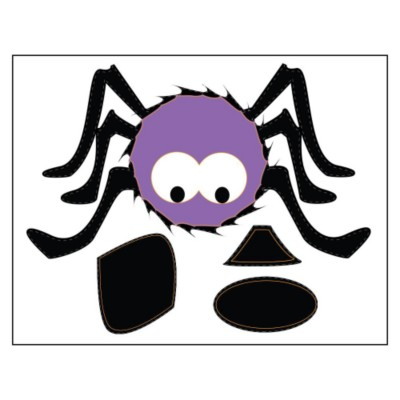 Spider Pumpkin Sticker Paper