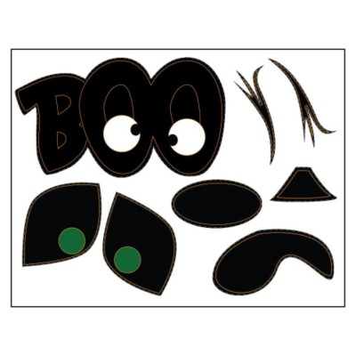 Boo Pumpkin Sticker Paper