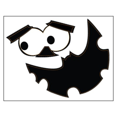 Bat Mouth Pumpkin Sticker Paper