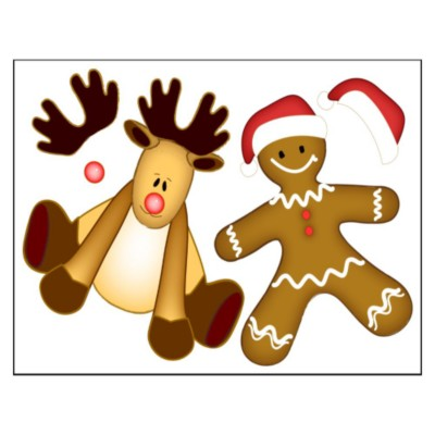 Reindeer and Gingerbread Man Paper Doll Magnet Sheets