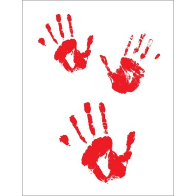 Halloween Bloody Handprint Dark T-Shirt Transfer , 1 per sheet