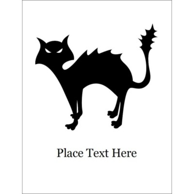 Halloween Cat Dark T-Shirt Transfer, 1 per sheet