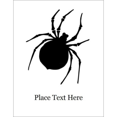 Halloween Spider Dark T-Shirt Transfer, 1 per sheet