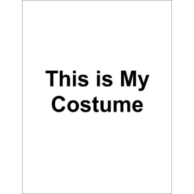 This is My Costume Dark T-Shirt Transfer, 1 per sheet