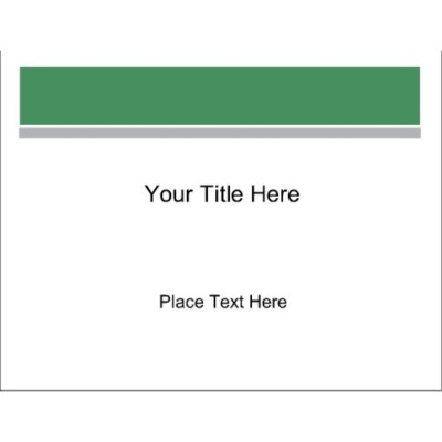 Green and Grey Bar Top Full Sheet Labels, 1 per sheet