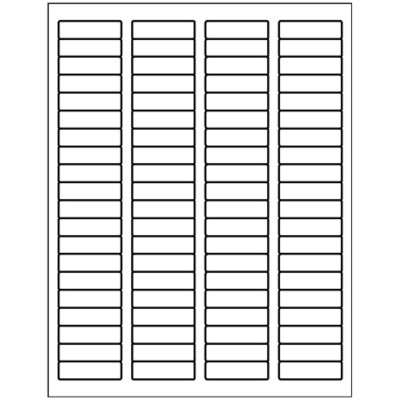 Basic Return Address Label, Blue Font, 80 per sheet Microsoft Word for Windows 2007