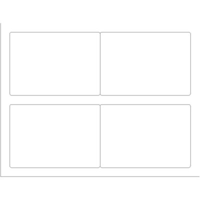 Templates - Shipping Label, 4 per sheet - Wide | Avery