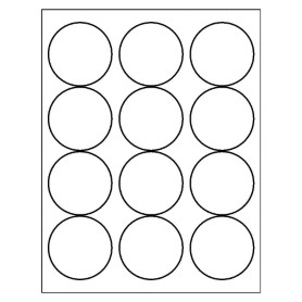 Round Label 12 Per Sheet 5294 Microsoft Word on inventory templates free
