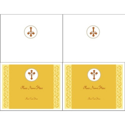 Easter Cross Note Card - Wide, 2 per sheet