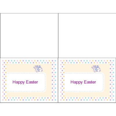 Easter Dots Notecard, 2 per sheet