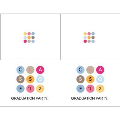Graduation Class of '12 Note Card, 2 per sheet, Wide