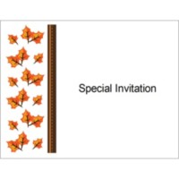 Templates thanksgiving fall leaves note card 2 per for Avery note cards templates