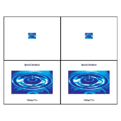 Water Ripple Note Card - Wide, 2 per sheet