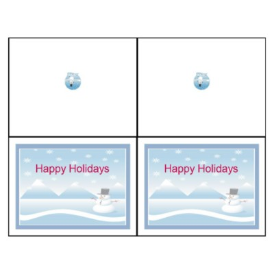 Snowman Note Card, 2 per sheet