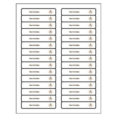 Beige Design Filing Label, 30 per sheet