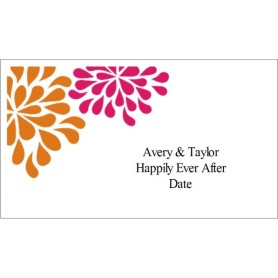 avery template 28371 business cards - templates wedding shower pink orange flowers on