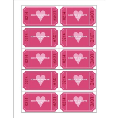 Templates Love Coupon Business Cards 10 Per Sheet Avery