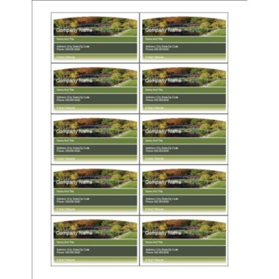 Beautiful Landscaped Home Business Card - Wide, 10 per sheet