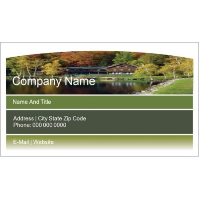 Templates Beautiful Landscaped Home Business Card Wide