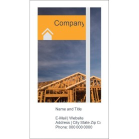 templates home construction business card tall 10 per sheet