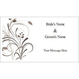 templates wedding elegant swirls tag on business card 10 per