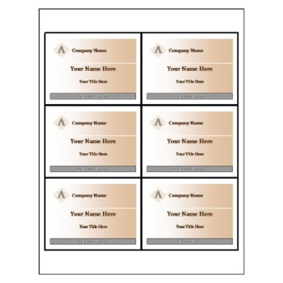 Beige Design Name Badge Insert, 6 per sheet