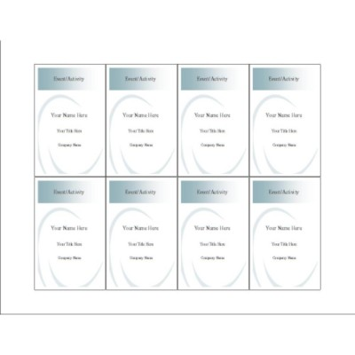 Ellipse Name Badge Insert, 8 Per Sheet - Tall