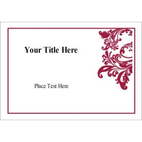 Templates elegant flourish name badge label 8 per sheet for Name badges templates microsoft word