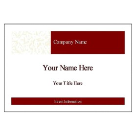 Free averyr template for microsoft word name badge label for Name badges templates microsoft word