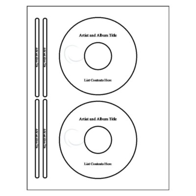 cd label template 8692