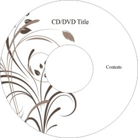 Templates wedding elegant swirls cd label 2 per sheet for Free avery cd label templates