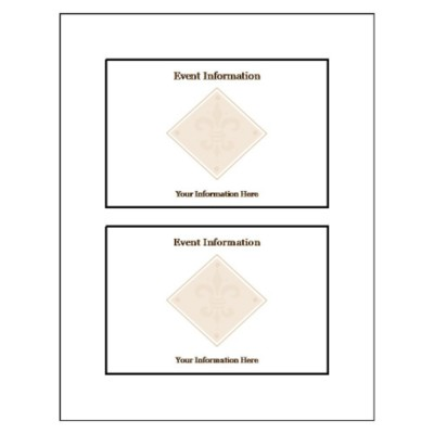 Beige Design Postcard - Wide, 2 per sheet