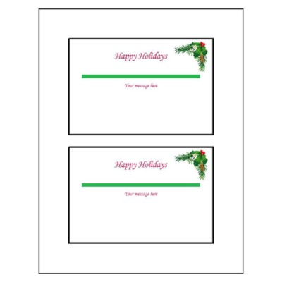 Christmas Wreath Postcard, 2 per sheet