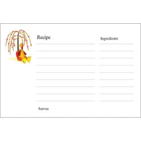 templates thanksgiving recipe cards on postcards 2 per sheet