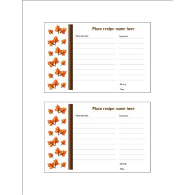 Thanksgiving Fall Leaves Postcard, 2 per sheet