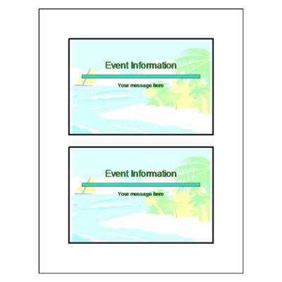 Island Postcard - Wide, 2 per sheet