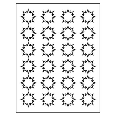 Burst Label, 24 per sheet