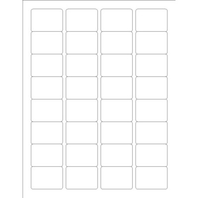 Durable Rectangular Labels, 32 per sheet, Adobe Illustrator