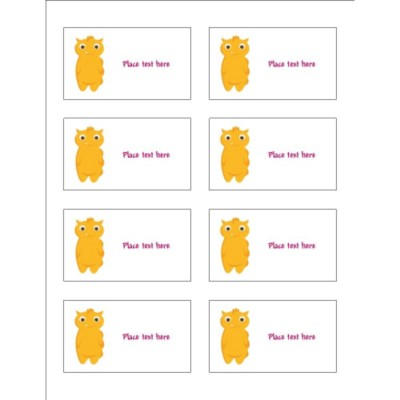 Cute Birthday Monsters Insert Card for Adhesive Pockets, 8 per sheet