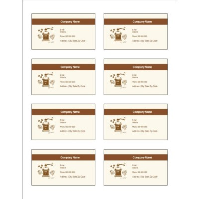 Coffee Grinder Adhesive Pocket Inserts, 8 per sheet