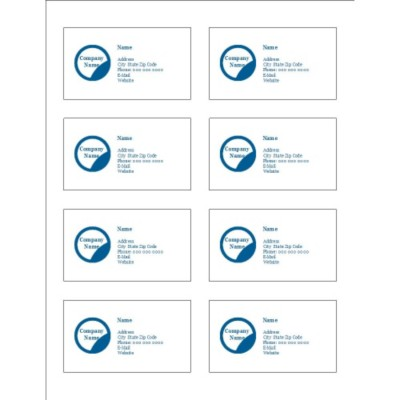Blue Circle Design Adhesive Pocket Inserts, 8 per sheet